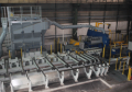 Complex material handling task in a stainless steel plant