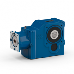 Helical bevel gear unit with servo adapter